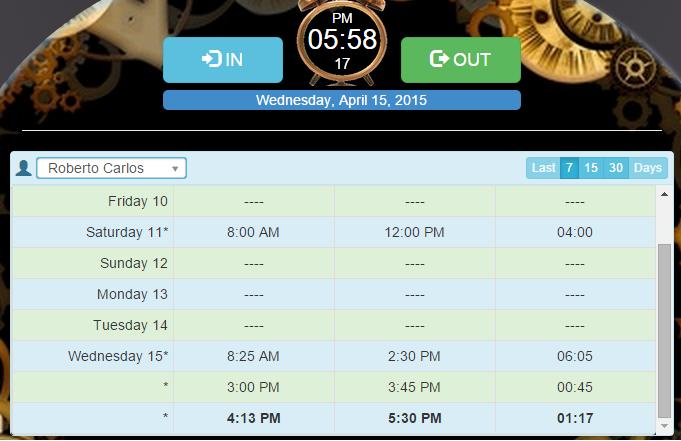 Marcación multiple desde el reloj de marcación de emplotime